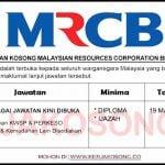 Jawatan Kosong Malaysian Resources Corporation Berhad (MRCB)