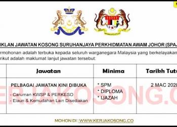 Jawatan Kosong SPA Johor