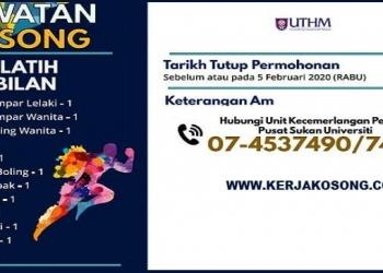 Jawatan Kosong Universiti Tun Hussein Onn Malaysia COVER