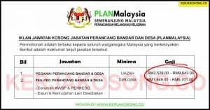 [SPA] Jawatan Kosong Jabatan Perancang Bandar Dan Desa (PLANMalaysia)