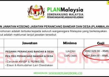 SPA Jawatan Kosong Jabatan Perancang Bandar Dan Desa PLANMalaysia
