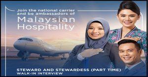 Temuduga Terbuka Part Time Cabin Crew Malaysia Airlines (MAS)