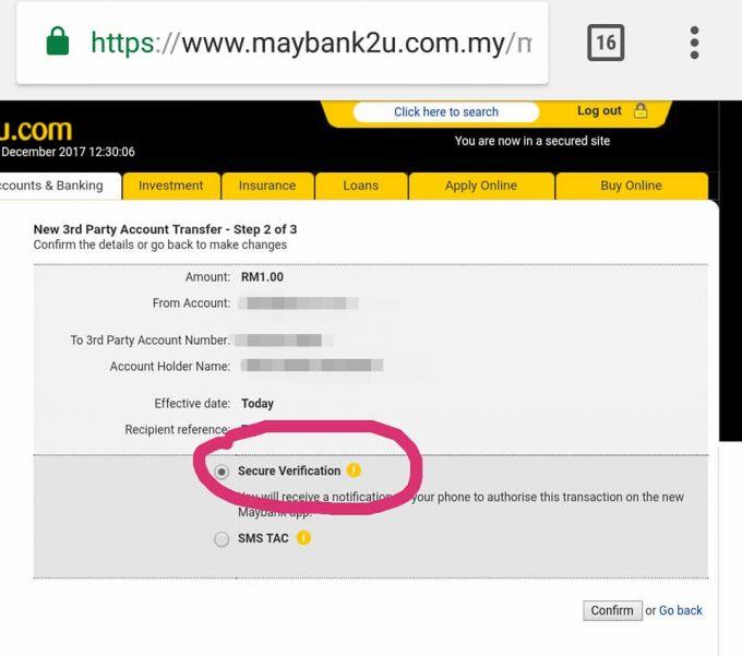 Cara Transfer Maybank2u Tanpa TAC Number img 6
