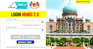 Login HRMIS 2.0 Sistem Pengurusan Maklumat Sumber Manusia