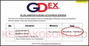 Jawatan Kosong GD Express Sdn Bhd