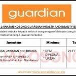 Jawatan Kosong Guardian Health And Beauty Sdn Bhd