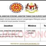 Jawatan Kosong Jabatan Tanah dan Survei Sarawak