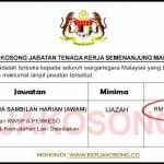 Jawatan Kosong Jabatan Tenaga Kerja Semenanjung Malaysia (JTKSM)