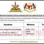 Jawatan Kosong Kerajaan Negeri Selangor (SUK Selangor)