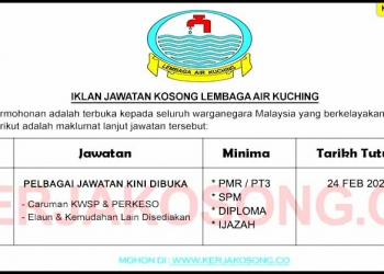 Jawatan Kosong Lembaga Air Kuching