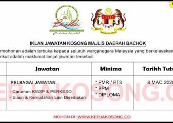 Jawatan Kosong Majlis Daerah Bachok