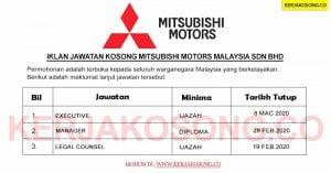 Jawatan Kosong Mitsubishi Motors Malaysia Sdn Bhd