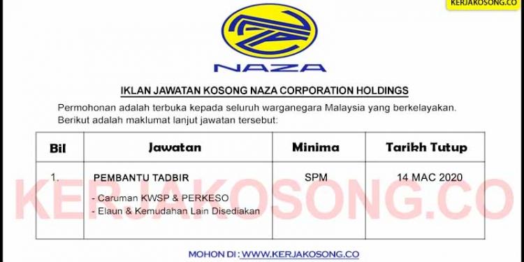 Jawatan Kosong NAZA Corporation Holdings