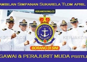 Jawatan Kosong Pasukan Simpanan Sukarela TLDM Pegawai Perajurit Muda
