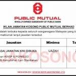 Jawatan Kosong Public Mutual Berhad