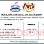 Jawatan Kosong SPA Negeri Sabah