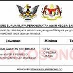 Jawatan Kosong Suruhanjaya Perkhidmatan Awam Negeri Sarawak (SPANS)