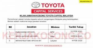 Jawatan Kosong Toyota Capital Malaysia