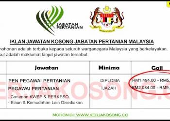 SPA Jawatan Kosong Jabatan Pertanian Malaysia