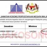 [SPA] Jawatan Kosong Perpustakaan Negara Malaysia
