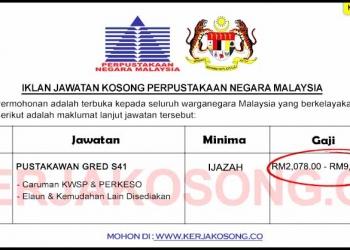 SPA Jawatan Kosong Perpustakaan Negara Malaysia
