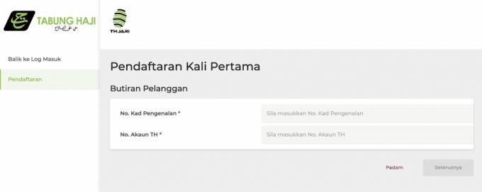 Daftar Akaun Tabung Haji Online img 5