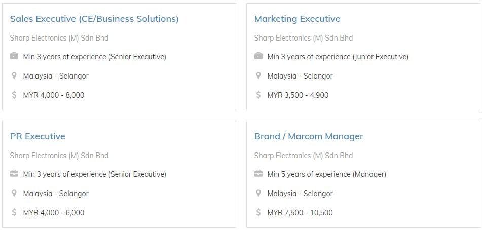 Sharp Electronics M Sdn Bhd Job List Feb 2020