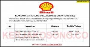 Jawatan Kosong Shell Business Operations (SBO)