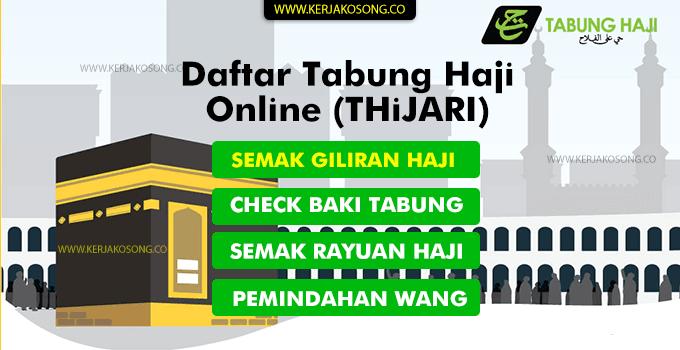 daftar tabung haji online thijari cara