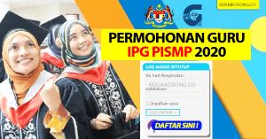 Permohonan IPG PISMP
