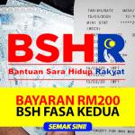 Bantuan Sara Hidup BSH 2020 | Semakan Fasa 2