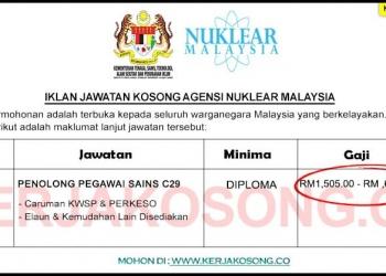 Jawatan Kosong Agensi Nuklear Malaysia