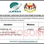 [SPA] Jawatan Kosong Jabatan Ukur Dan Pemetaan Malaysia (JUPEM)