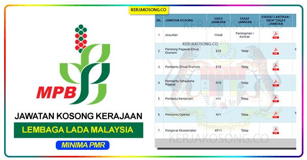 Jawatan Kosong Lembaga Lada Malaysia Lada terkini 2021