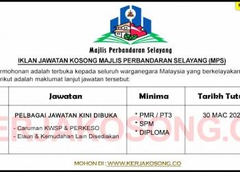 Jawatan Kosong Majlis Perbandaran Selayang MPS