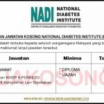 Jawatan Kosong National Diabetes Institute (NADI)