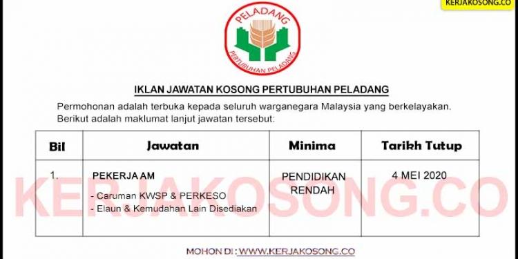 Jawatan Kosong Pertubuhan Peladang Negeri Pahang