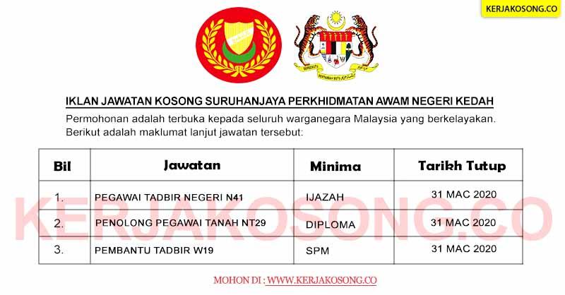 Jawatan Kosong SPA Negeri Kedah