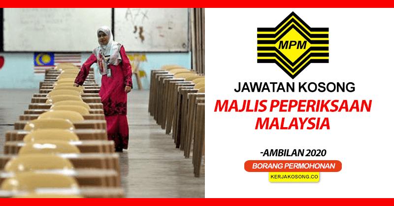 jawatan kosong mpm majlis peperiksaan malaysia