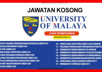 jawatan kosong universiti malaya um ppum