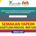Semakan Yapeim Dana Inspirasiku Malaysia 2020 - Status Permohonan