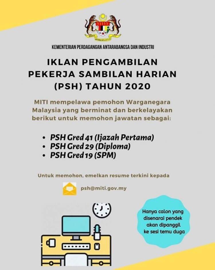 Jawatan Kosong MITI PSH