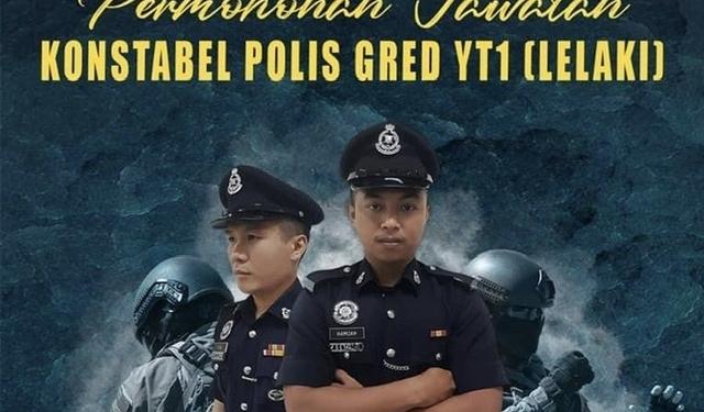 Jawatan kosong polis pdrm terkini