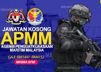 Jawatan Kosong APMM Agensi Penguatkuasaan Maritim Malaysia