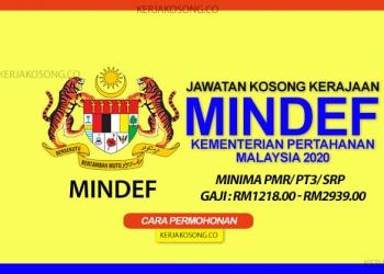 jawatan kosong kementerian pertahanan malaysia mindef terkini