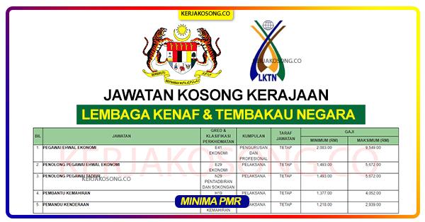 Jawatan Kosong Lembaga kenaf dan tembakau negara lktn malaysia