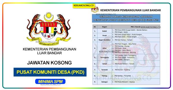 Jawatan Kosong Pusat Komuniti Desa PKD 2020