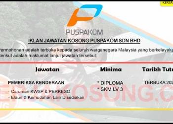 Jawatan Kosong Puspakom Sdn Bhd KC LOGO SEP 2020