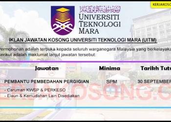 Jawatan Kosong Universiti Teknologi MARA UiTM SEP 2020