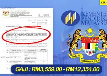 kementerian pendidikan malaysia jawatan kosong terkini